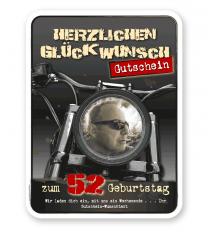 Gutschein mit Geburtstagsgrüßen - Biker - PB
