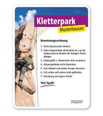 Schild Kletterwand / Kletterpark - PV