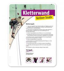 Schild Kletterpark - Kletterwand 2 4P - PV