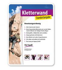 Schild Kletterwand / Kletterpark 4P - PV