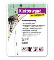Schild Kletterwand / Kletterpark 2 4P - PV
