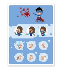 Hinweisschild Kinder-Handhygiene - SCH-HWK-03