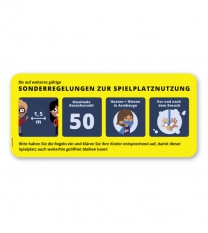 """Hinweisschild """"Sonderregelungen zur Spielplatznutzung"""" - SCH-KSP-01"""