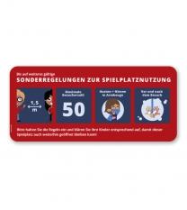 """Hinweisschild """"Sonderregelungen zur Spielplatznutzung"""" - SCH-KSP-02"""