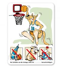Spielplatzschild Basketball - Känguru 3P - SHB