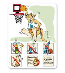 Spielplatzschild Basketball - Känguru 6P - SHB