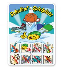 Spielplatzschild Schulhof-Spielplatz 01 8P - SHB