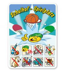 Spielplatzschild Schulhof-Spielplatz 02 8P - SHB