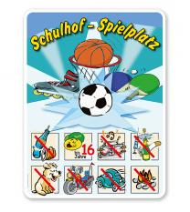 Spielplatzschild Schulhof-Spielplatz 03 8P - SHB
