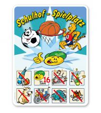 Spielplatzschild Schulhof-Spielplatz 04 8P - SHB