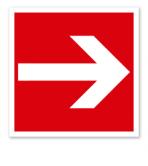 Brandschutzzeichen Richtungsangabe links/rechts nach ASR A 1.3 (2007), BGV A8 F 01