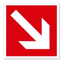 Brandschutzzeichen Richtungsangabe abwärts/aufwärts nach ASR A 1.3 (2007), BGV A8 F 02