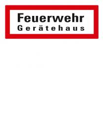 Brandschutzschild Feuerwehr Gerätehaus nach DIN 4066