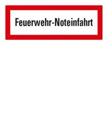 Brandschutzschild Feuerwehr-Noteinfahrt nach DIN 4066