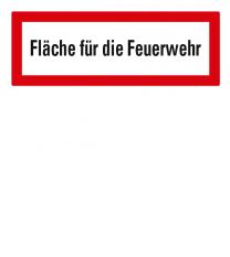 Brandschutzschild Fläche für die Feuerwehr nach DIN 4066