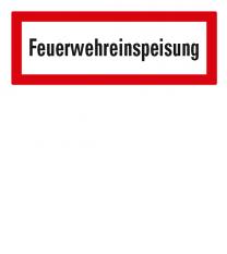 Brandschutzschild Feuerwehreinspeisung nach DIN 4066