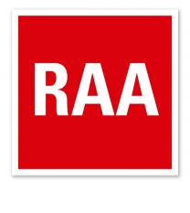 Brandschutzzeichen RAA - Rauchabzugsanlage
