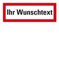 Brandschutzschild individuell nach DIN 4066