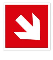 Brandschutzzeichen Richtungsangabe abwärts/aufwärts nach ISO 3864