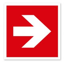 Brandschutzzeichen Richtungsangabe rechts/links nach ISO 3864