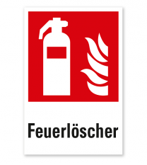 Brandschutzzeichen Feuerlöscher nach DIN EN ISO 7010 - F 001 - Kombi
