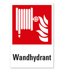 Brandschutzzeichen Wandhydrant / Löschschlauch nach DIN EN ISO 7010 - F 002 - Kombi