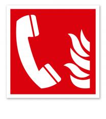 Brandschutzzeichen Brandmeldetelefon nach DIN EN ISO 7010 - F 006