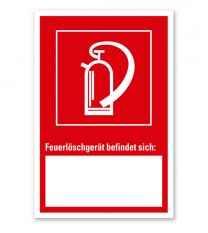Feuerlöscher - Angabe der Geräteposition - Kombi