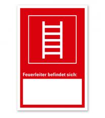 Feuerleiter - Angabe der Geräteposition - Kombi