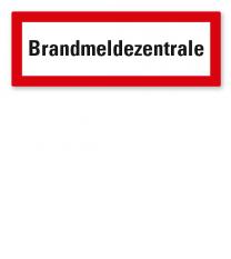 Brandschutzschild Brandmeldezentrale nach DIN 4066