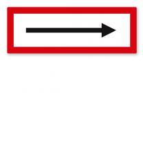 Brandschutzschild Richtungspfeil nach DIN 4066
