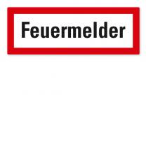 Brandschutzschild Feuermelder nach DIN 4066