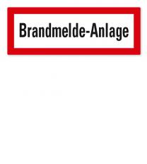 Brandschutzschild Brandmeldeanlage nach DIN 4066