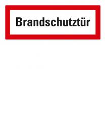 Brandschutzschild Brandschutztür nach DIN 4066