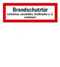 Brandschutzschild Brandschutztür verkeilen, verstellen, festbinden o.ä. verboten nach DIN 4066