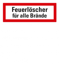 Brandschutzschild Feuerlöscher für alle Brände nach DIN 4066