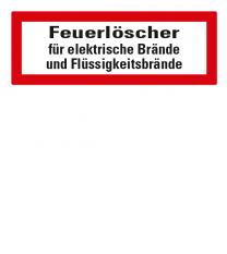 Brandschutzschild Feuerlöscher für elektrische Brände und Flüssigkeitsbrände nach DIN 4066