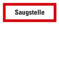 Brandschutzschild Saugstelle nach DIN 4066