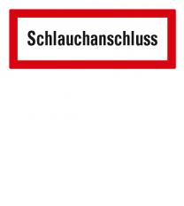 Brandschutzschild Schlauchanschluss nach DIN 4066