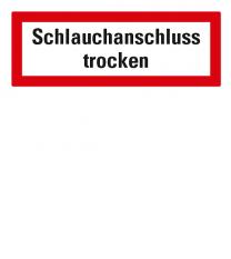 Brandschutzschild Schlauchanschluss trocken nach DIN 4066
