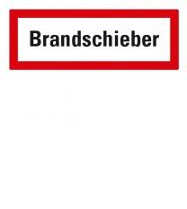 Brandschutzschild Brandschieber nach DIN 4066