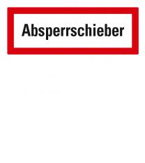 Brandschutzschild Absperrschieber nach DIN 4066