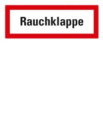 Brandschutzschild Rauchklappe nach DIN 4066