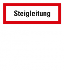 Brandschutzschild Steigleitung nach DIN 4066