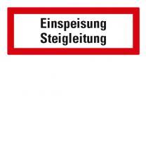 Brandschutzschild Einspeisung Steigleitung nach DIN 4066