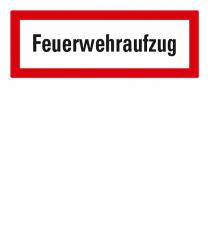 Brandschutzschild Feuerwehraufzug nach DIN 4066