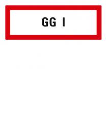 Brandschutzschild GG I nach DIN 4066