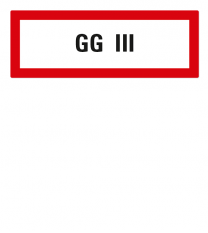 Brandschutzschild GG III nach DIN 4066
