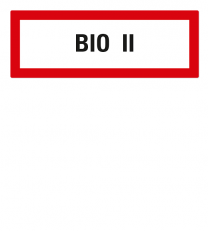 Brandschutzschild BIO II nach DIN 4066