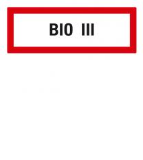 Brandschutzschild BIO III nach DIN 4066